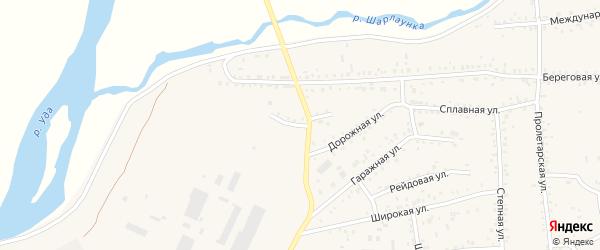 Дамбовая улица на карте Онохого поселка с номерами домов