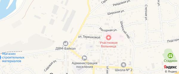 Улица Терешковой на карте Онохого поселка с номерами домов
