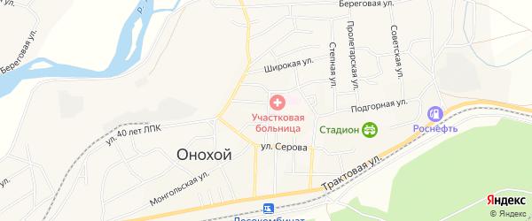СНТ Озерный на карте Онохого поселка с номерами домов