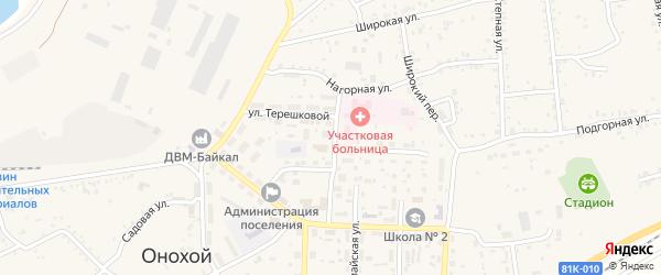Тенистая улица на карте Лесной микрорайона с номерами домов