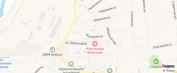 Нагорная улица на карте Онохого поселка с номерами домов