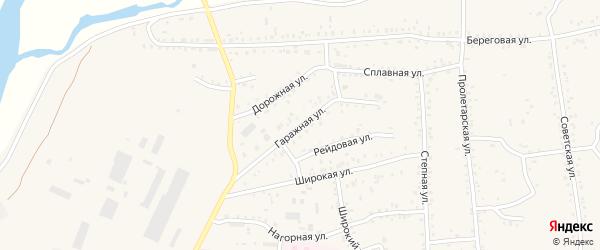Гаражная улица на карте Онохого поселка с номерами домов