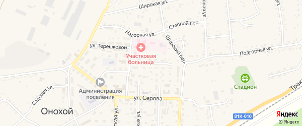 Улица Красная Горка на карте Онохого поселка с номерами домов