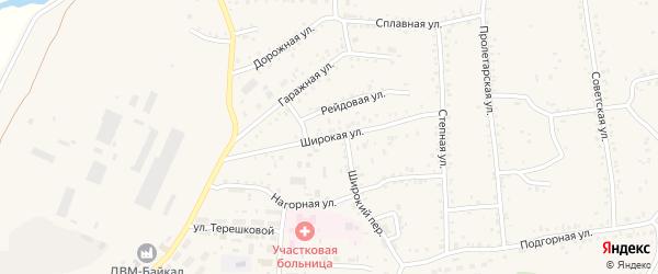 Широкая улица на карте Онохого поселка с номерами домов