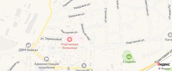 Широкий переулок на карте Онохого поселка с номерами домов
