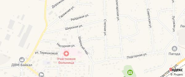 Степной переулок на карте Онохого поселка с номерами домов