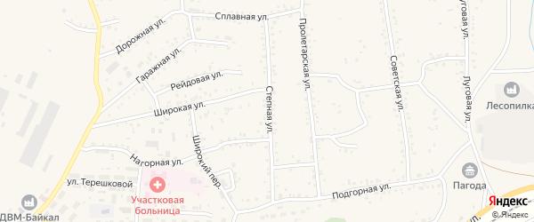 Степная улица на карте Онохого поселка с номерами домов