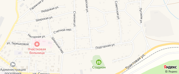 Пролетарский переулок на карте Онохого поселка с номерами домов