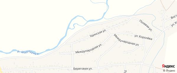 Удинская улица на карте Онохого поселка с номерами домов