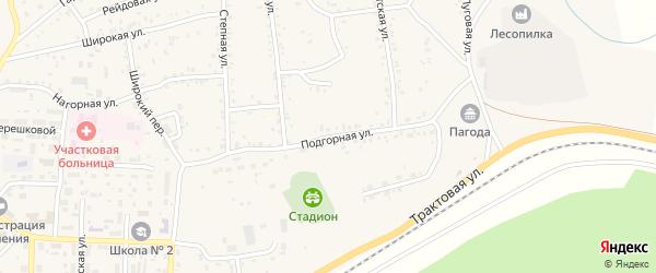 Подгорная улица на карте Онохого поселка с номерами домов