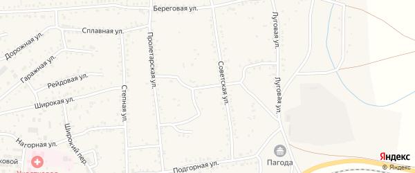 Советский переулок на карте Онохого поселка с номерами домов