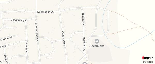 Луговая улица на карте Онохого поселка с номерами домов