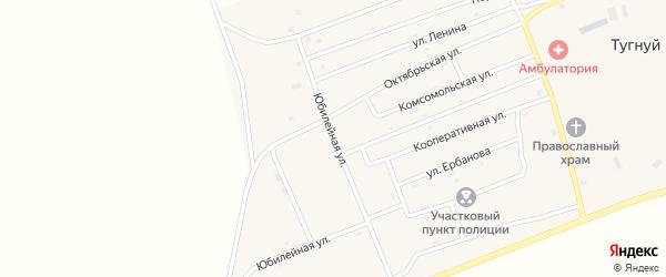 Юбилейная улица на карте села Тугнуй с номерами домов