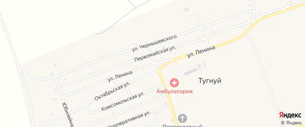 Улица Ленина на карте села Тугнуй с номерами домов