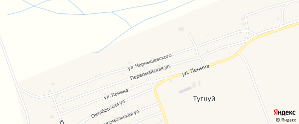 Улица Чернышевского на карте села Тугнуй с номерами домов