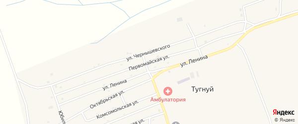 Первомайская улица на карте села Тугнуй с номерами домов