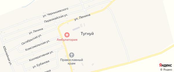 Улица Ербанова на карте села Тугнуй с номерами домов