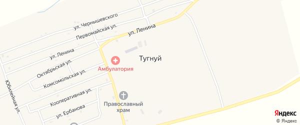 Октябрьская улица на карте села Тугнуй с номерами домов
