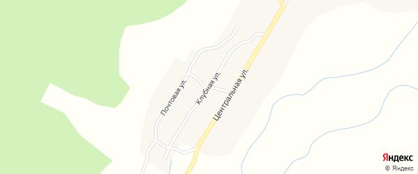 Клубная улица на карте села Старой Бряни с номерами домов
