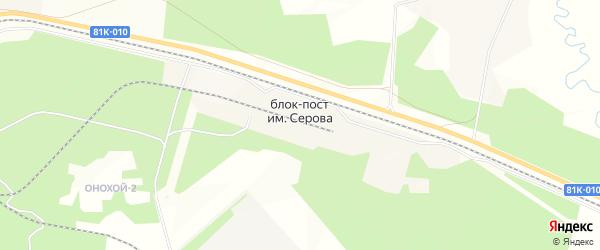 Карта поселка Блок-Пост им Серова в Бурятии с улицами и номерами домов