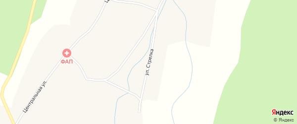 Улица Стрелка на карте села Старой Бряни с номерами домов