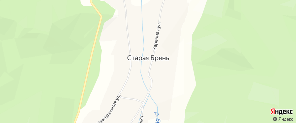 Карта села Старой Бряни в Бурятии с улицами и номерами домов