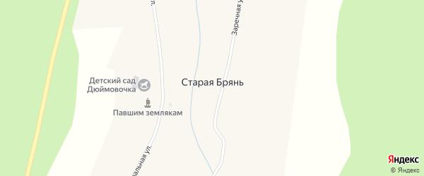 Центральная улица на карте села Старой Бряни с номерами домов