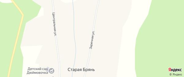 Заречная улица на карте села Старой Бряни с номерами домов