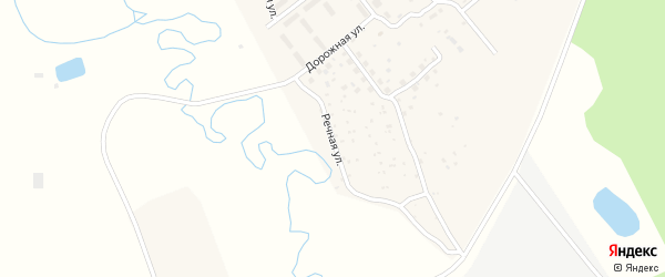 Речная улица на карте села Усть-Брянь с номерами домов
