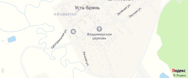 Молодежная улица на карте села Усть-Брянь с номерами домов