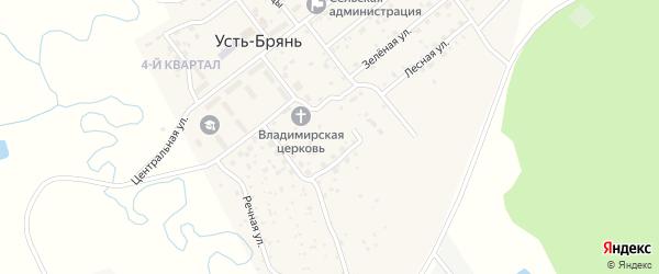 Дачный переулок на карте села Усть-Брянь с номерами домов