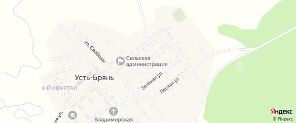 Первомайская улица на карте села Усть-Брянь с номерами домов