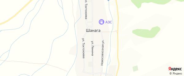Карта улуса Шанага в Бурятии с улицами и номерами домов