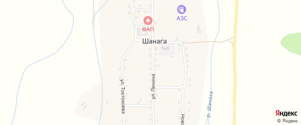 Новосовхозная улица на карте улуса Шанага с номерами домов