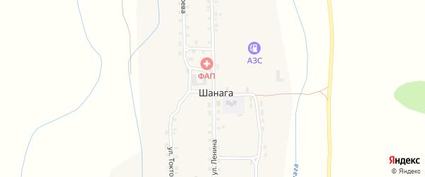Улица Ленина на карте улуса Шанага с номерами домов