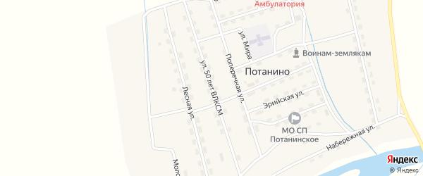Улица 50 лет ВЛКСМ на карте поселка Потанино с номерами домов