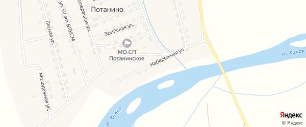Набережная улица на карте поселка Потанино с номерами домов