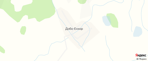 Карта улуса Добо-Енхор в Бурятии с улицами и номерами домов