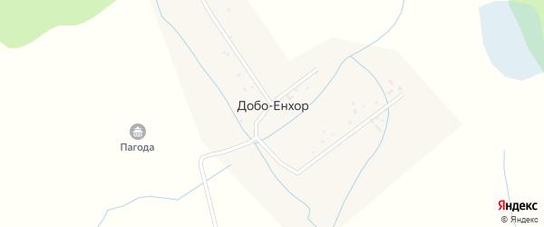 Улица Тудупа Цырендоржиева на карте улуса Добо-Енхор с номерами домов