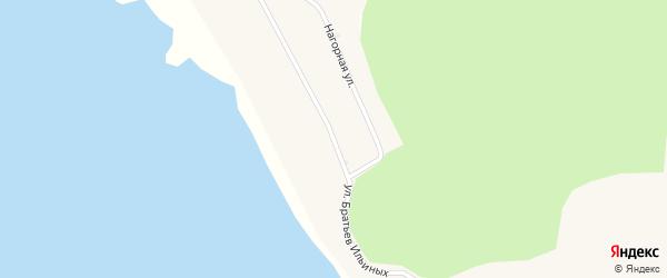 Улица Братьев Ильиных на карте поселка Истока с номерами домов
