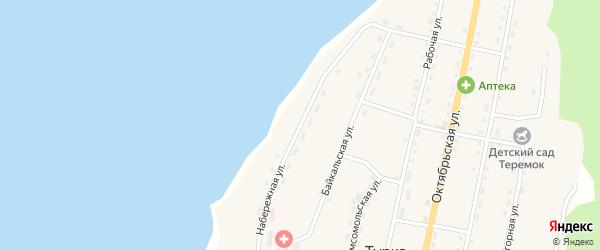 Набережная улица на карте села Турки с номерами домов