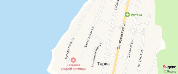 Байкальская улица на карте села Турки с номерами домов