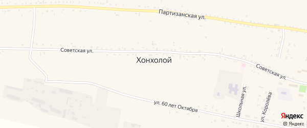 Подгорная улица на карте села Хонхолоя с номерами домов