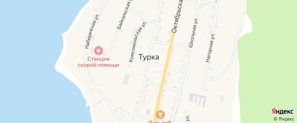 Микрорайон Охотино на карте села Турки с номерами домов