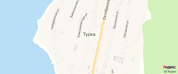 Омулевая улица на карте села Турки с номерами домов