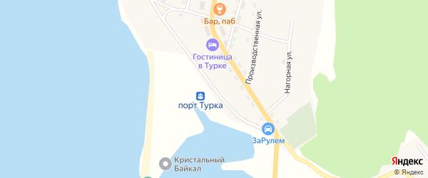 Рейдовая улица на карте села Турки с номерами домов