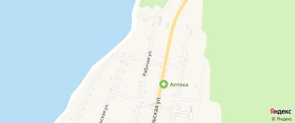 Рабочая улица на карте села Турки с номерами домов