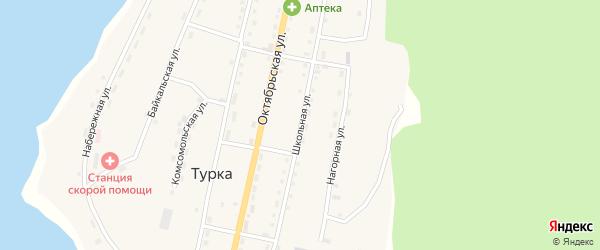 Школьная улица на карте села Турки с номерами домов