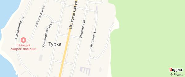 Нагорная улица на карте села Турки с номерами домов