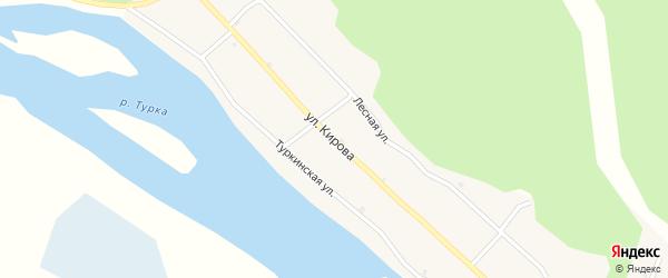 Улица Кирова на карте села Турки с номерами домов